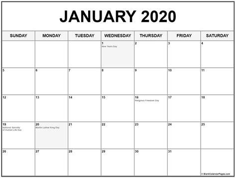 collection january calendars holidays