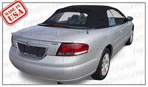 2001 thru 2006 Chrysler Sebring Convertible Tops and
