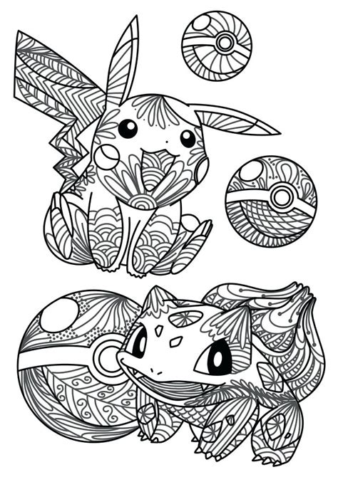pokemon coloring pages  adults  getcoloringscom  printable colorings pages  print