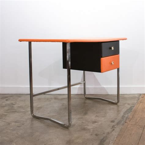 chrome bureau bureau orange chrome et noir