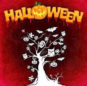 Clipart - Halloween Tree