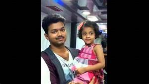 Tamil actor Vijay with his daughter rare and unseen - YouTube