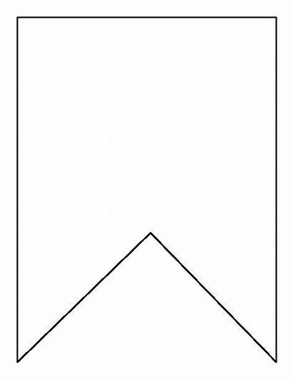 Bunting Pattern Template Banner Square Printable Outline