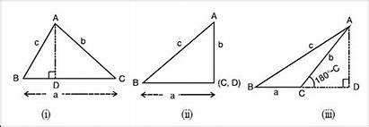 Cosine Formula Relations Between Angles Sides Triangle
