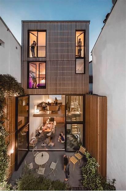 Narrow Skinny Houses Casas Archdaily Estreitas Estrechas