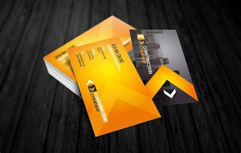 Construction business names can make or break your company. 20+ Construction Business Card Designs and Examples - PSD, AI | Examples