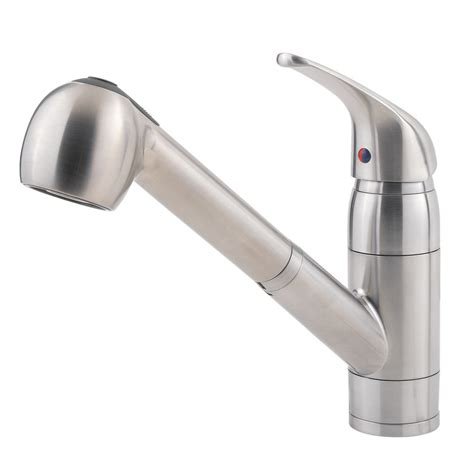 pull kitchen faucet shop pfister pfirst series stainless steel 1 handle pull