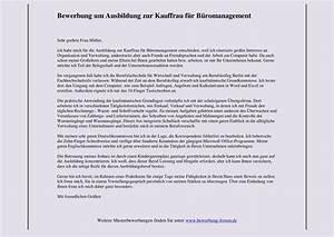 Kauffrau Im Büromanagement : kauffrau f r b romanagement bewerbung um ausbildung muster und tipps ~ Orissabook.com Haus und Dekorationen