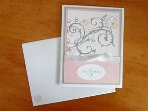 17 best card ideas images on pinterest bridal shower With handmade wedding invitations stampin up
