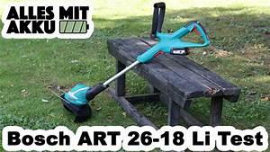 Akku Rasentrimmer Test : bosch art 26 18 li rasentrimmer test alles mit akku ~ Watch28wear.com Haus und Dekorationen