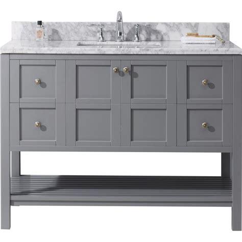 Virtu Usa Winterfell 48 In W X 22 In D Vanity In Grey. Floating Wall. Venetian Ice Granite. Bedroom Wall Art. Mettro. Rustic Coffee Tables. 12 X 18 Rug. 36 Table. Basketweave Tile