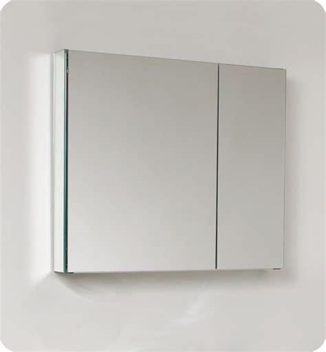 mirror medicine cabinet 29 75 quot fresca fmc8090 medium bathroom medicine cabinet w