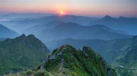 nature, Landscape, Mountains, Trees, Forest, Sunset, Mist ...
