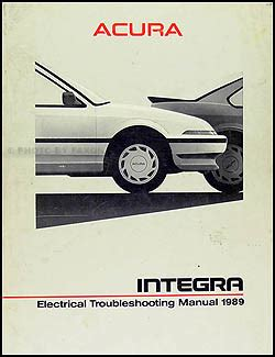 free car manuals to download 1989 acura legend seat position control 1989 acura integra electrical troubleshooting manual original