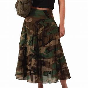 woodland camouflage womens gauze skirt army