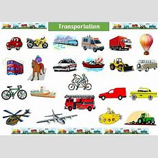 Transportation  A4 Laminated Display Poster  24 Modes Of Transport  Eyfs Ebay