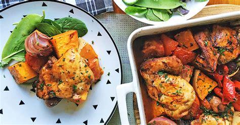 easy tray baked chicken dinner recipe