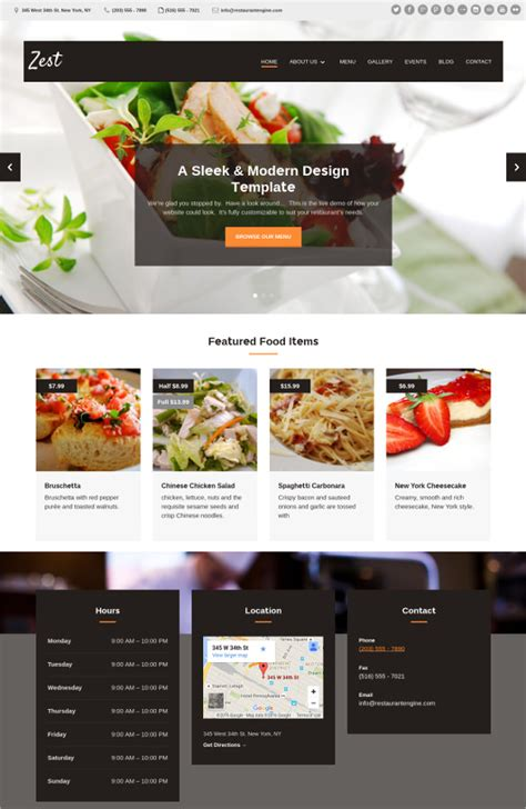 cuisine site 34 restaurant html5 website themes templates free