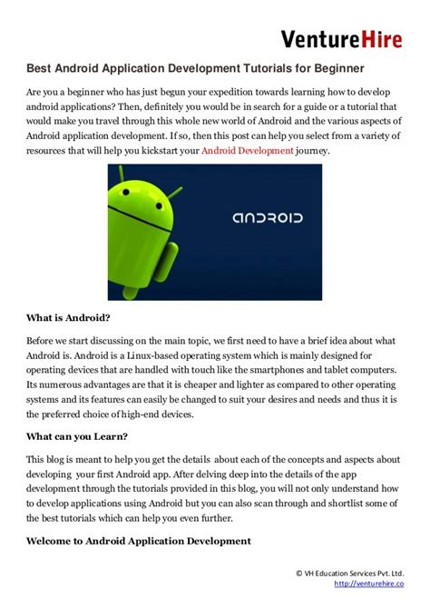 android tutorial for beginners best android application development tutorials for beginner