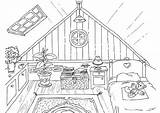 Attic Coloring Pages Printable sketch template