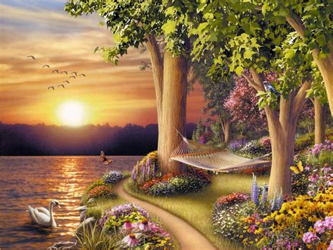 Nature Painting Wallpaper by Collection Of Unique Creative Designing Material Hd