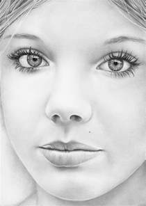 Realistic Pencil Drawings Lips and Eyes