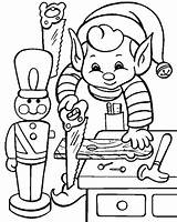 Elf Coloring Pages Print sketch template
