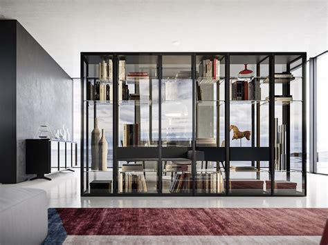 Librerie In Vetro - libreria in vetro temperato con illuminazione paspartu by