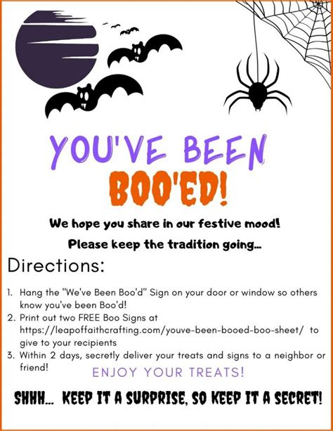 you ve been booed free printable boo sheet leap of