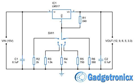 Circuit Diagram 12v To 6v by Voltage Power Supply Circuit Diagram Schematic To