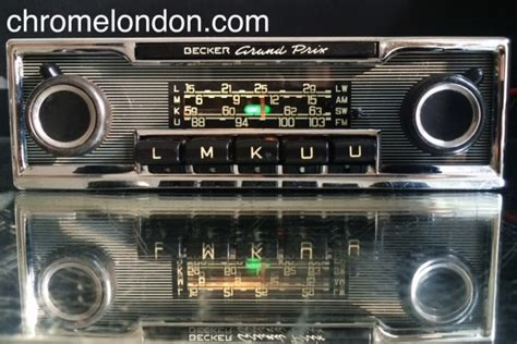 becker grand prix radio becker grand prix wonderbar vintage chrome classic car fm radio mp3 warranty restored mercedes