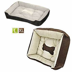 yaheetech rectangle pet bed pets cushion dog cats puppy With completely washable dog bed
