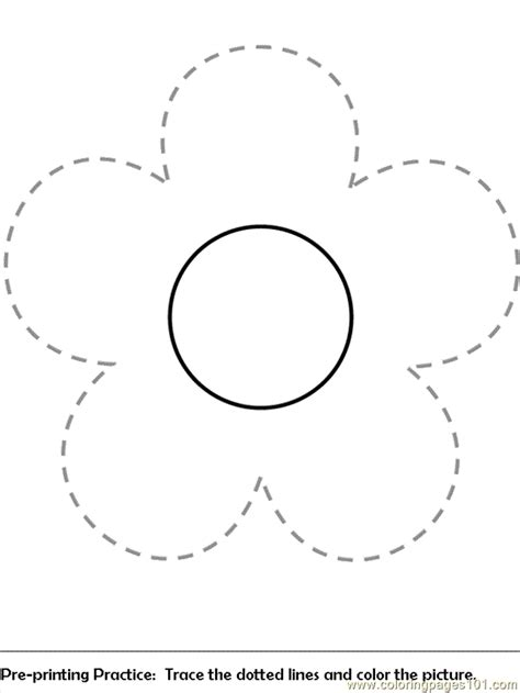 flower coloring pages pre print flower coloring page  flowers coloring pages