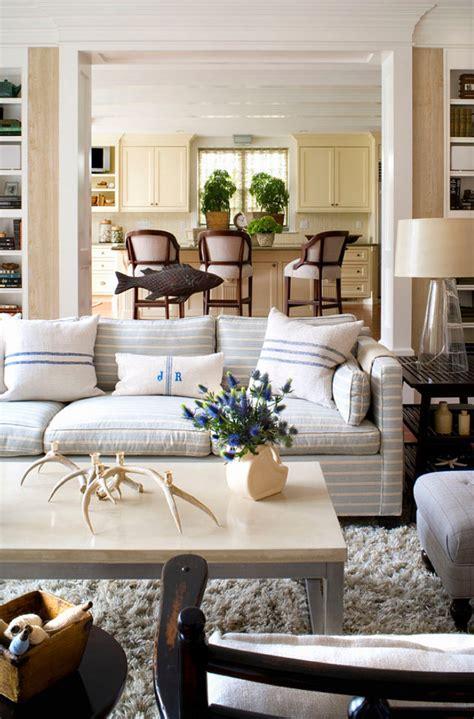 livingroom decorating ideas subtle striped sofas the inspired room