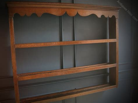 georgian oak hanging plate rack antiques atlas