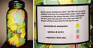 boyfriend puts 365 love notes in a jar for his girlfriend With letters in a jar