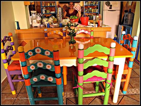 mexican kitchen table and chairs marisol 6 painted chairs and table in 2019 cheap ideas