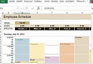 employee schedule hourly increment template for excel With hourly employee schedule template