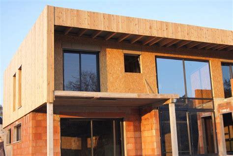 maison contemporaine en bois bardage bois meuse