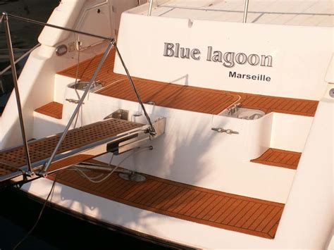 cork flooring for yachts luxury powerboat replaces teak deck with cork seacork