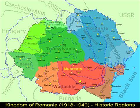 map   regions  greater romania