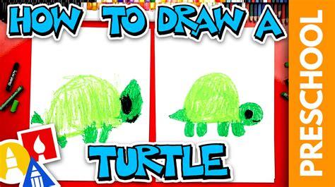 draw  turtle preschool art  kids hub