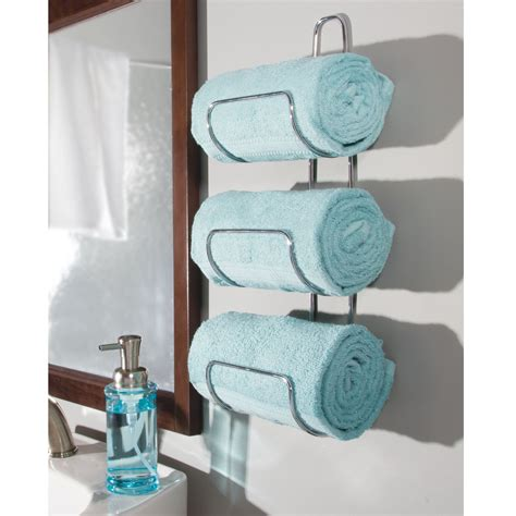 mdesign wall mount   door bathroom towel holder bar