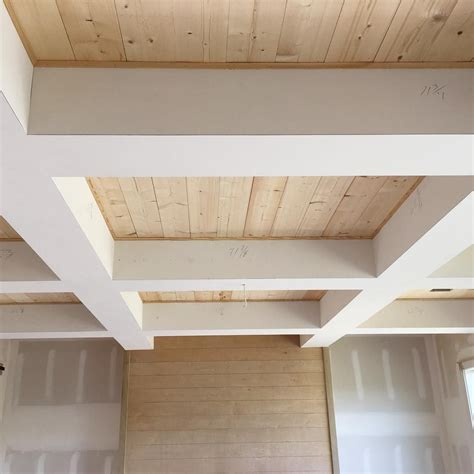 Simple Coffered Ceiling by Check Out The Wood In Our Coffered Ceiling Simple Pine