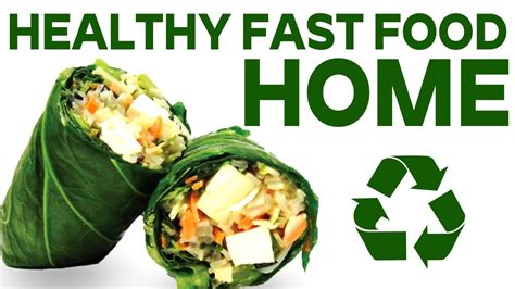 healthy fast food making  home youtube