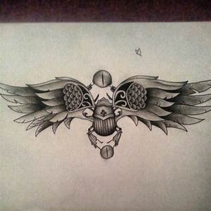Scarab beetle egyptian tattoo sketch | Tats | Pinterest ...