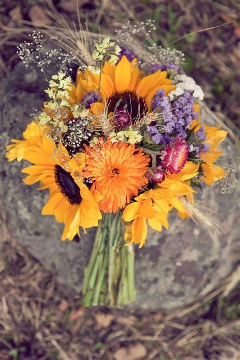 Wildflower Bouquet Love Those Sunflowers Wedding