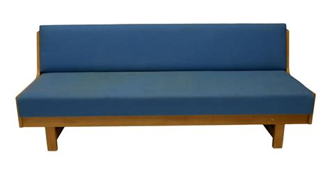 Danish Mid-century Modern Light Blue Sofa Day Bed