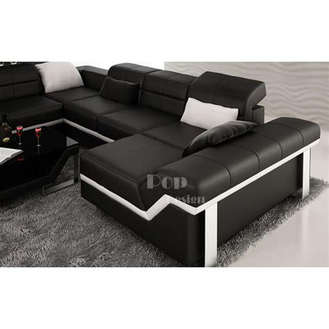 canapé cuir design luxe canapé d 39 angle cuir panoramique design torino xl pop