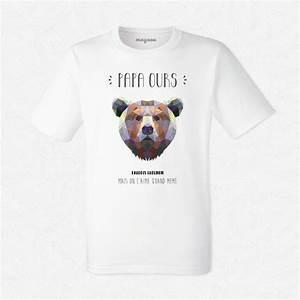 T Shirt Homme Blanc : t shirt homme blanc papa ours mayooo t shirts et accesoires cool pour gens cool ~ Melissatoandfro.com Idées de Décoration